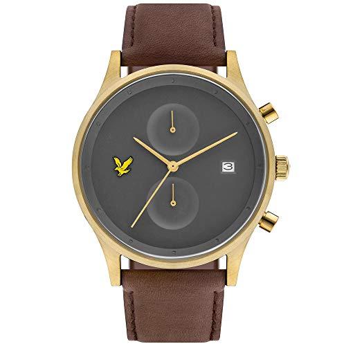 Lyle & Scott Men's The Hope 42mm Brown Leather Band Quartz Watch LS-6007-07