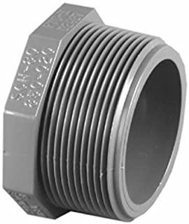 1-1/2PVC SCH80 MPT Plug by Charlotte Pipe & Found