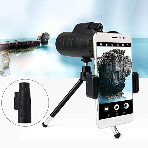 40X60Monoculaire telescoop voor volwassenen, telescoop met statief met infrarood nachtzicht Telefoonstatief APP draadloze verbinding waterdicht voor wandelen, vissen, kamperen