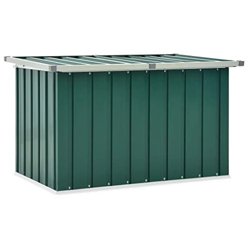 vidaXL Boîte de Rangement de Jardin Coffre de Stockage Boîte de Stockage Coffre de Rangement Extérieur Patio Terrasse Vert 109x67x65 cm