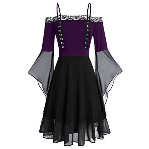 V-16 Nero Blu Victorian Gothic Civil War Abito Dress Costume