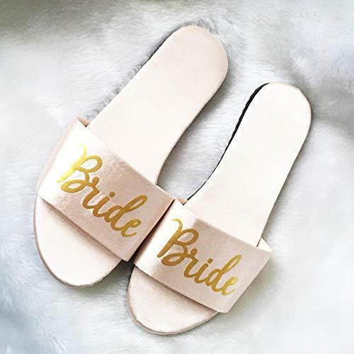 Flip Flop-GQ Zapatillas de Raso de Boda Zapatillas de Novia de Boda...