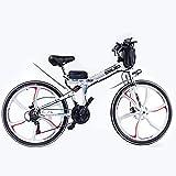 ZOSUO Herren Faltbares Fahrrad 26 Zoll E-Bike Pedelec Trekkingrad Mit 350 Watt-Motor 48V8ah Akku Shimano 21-Gang Radfahren Im Freien Hybridfahrrad