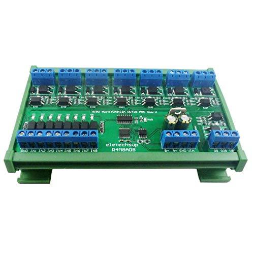 DC 12V 24V 8 Isolato IO DIN35 C45 Rail Box UART RS485 MOSFET Modulo Modbus RTU Scheda interruttore di controllo per relè PLC LED PTZ (with Rail Box)