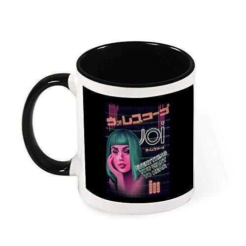 Jupsero Joi Neon Ad Blade Runner 2049 Taza de café de cerámica Taza de té Regalo para mujeres Niñas Esposa Mamá Abuela 11 oz
