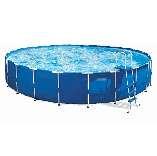 ZYFWBDZ Faltbarer Pool, runder Pool, großes Planschbecken - 152-732 cm * 38-132 cm, aufblasbarer Deluxe-Familienpool Außenpool,732 * 132cm