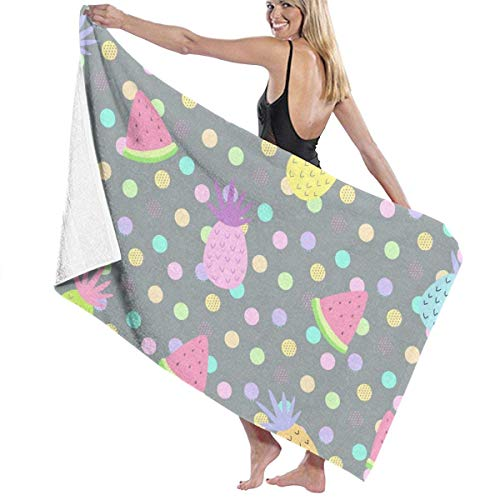 Toallas Shower Towels Beach Towels Bathroom Towels Toalla De Baño Toallas de baño coloridas de piña con lunares Toalla 130 x 80 CM