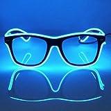 GCBTECH EL Wire Leuchtbrille Leuchten Cool Brille LED Drahtbrille Leucht Sonnenbrille Leuchtband...