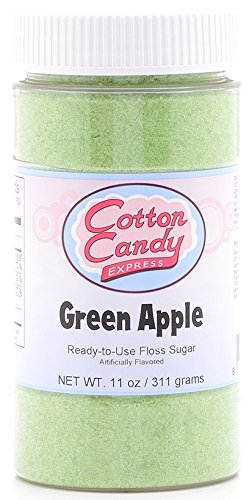 Cotton Candy Express Floss Sugar Candy, Green Apple, 11 Ounce