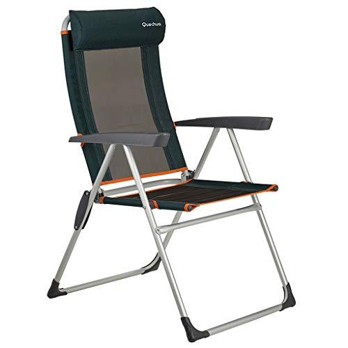 Onbekend grote kampeerstoel met vier kabels, harde armleuning met hoofdsteun, aluminium frame, ondersteunt 240 pond (240 pond), inklapbare picknick bureaustoel, instelbare achterhoek