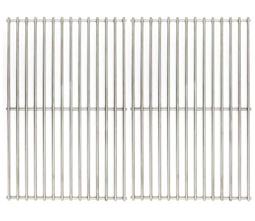 Hongso Grill Grates, Durable 304 Stainless Steel Solid Rod, 19 1 4 inch Cooking Grid Grates Replacement for Turbo, Charmglow, Brinkmann Gas Grill (2 Pieces, SCS612)