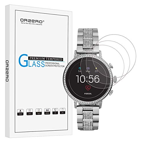 NEWZEROL [4 stück] Ersatz für Fossil Q Venture HR (4 Gen)/ Galaxy Watch 3 45mm Panzerglas Schutzfolie, High-Definition gehärtetem Glas Kratzfest blasenfrei Clear Bildschirmschutzfolie