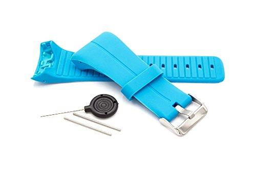 vhbw Armband passend für Polar M400, Polar M430 GPS-Laufuhr, Hell-Blau Ersatzarmband