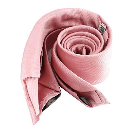 Tony & Paul. Cravate 6 plis. confection main, Soie. Rose, Uni. Fabriqué en Italie.