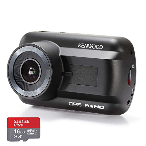 Kenwood DRV-A201 Full HD Dash Cam with 3-Axis G-Sensor and GPS + 16GB Micro SD Card
