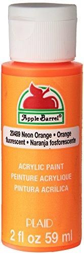 Apple Barrel Acrylic Paint in Assorted Colors (2 oz), 20489, Neon Orange