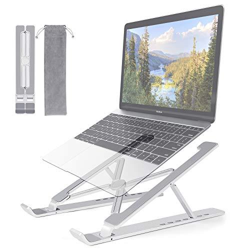 """KinCam Soporte Portatil, Aluminio Ventilado Soporte Ordenador Portátil Mesa Plegable, 7 Ángulos Ajustable Laptop Stand para Macbook, DELL, HP, Lenovo, Otros 10-17 """" Portátiles y Tabletas"""