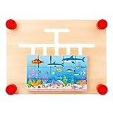 LianMengMVP Puzzle para Niños Cuatro Estilos Colores Play Juguetes para Niños Puzzle Educativo de Madera Toy