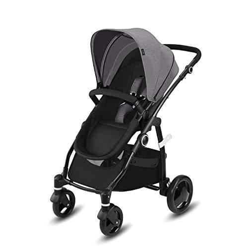 Cbx Leotie Pure - Cochecito con asiento reversible y capazo para recién nacidos, incluye cubierta para lluvia, desde el nacimiento hasta los 15 kg, Comfy Grey