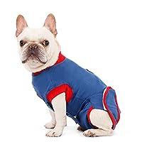 Petyoung Costume de récupération pour chien de compagnie Costume de récupération du coton pour chien protecteur de blessure abdominale après une usure chirurgicale pour empêcher le léchage, la morsure
