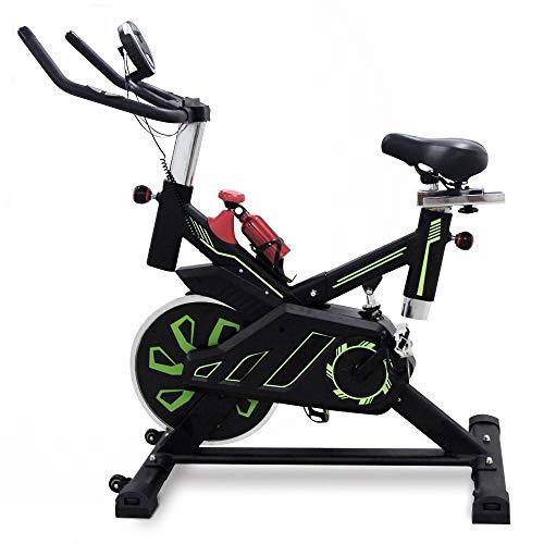 UrbanFit Pro Bicicleta Spinning Uso Rudo 18 Kilos Banda Profesional con agarres de frecuencia - Verde