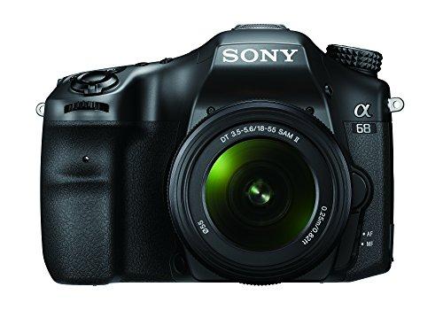 Sony Alpha 68K - Kit Fotocamera Digitale Reflex con Obiettivo Intercambiabile SAL 18-55mm, Sensore APS-C, ILCA68 + SAL1855, Nero
