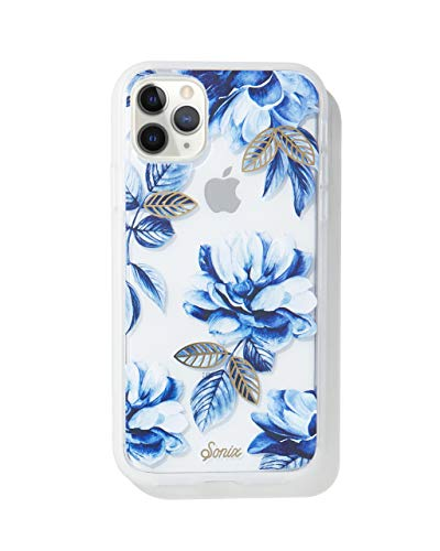 Sonix Indigo Flower Case for iPhone 11 Pro [10ft Drop Tested] Women's Protective Blue Floral Clear Case for Apple iPhone 11 Pro