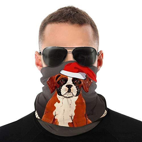 Niedlicher Boxer Hund Gesichtsschal Hals Gamasche Rohr Magisches Kopftuch, Multifunktionale Bandanas Sturmhaube Anti Dust NCK-520