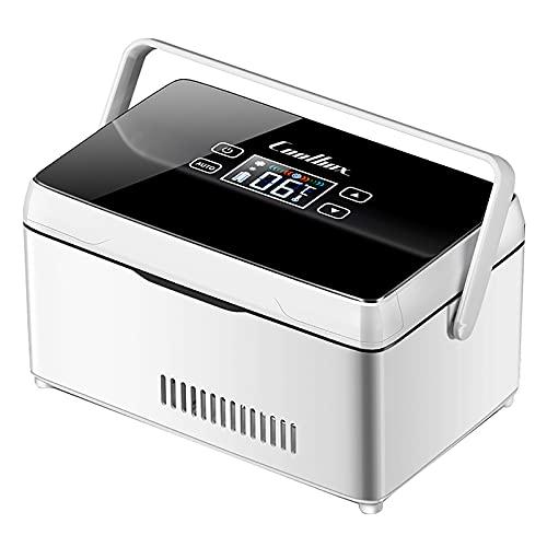 WDAA Refrigerador PortáTil de Insulina Mini Refrigerador Enfriador EléCtrico Nevera Coche Refrigerador de Medicamentos para el Hogar Oficina Viajes 2-18 ° C - Negro