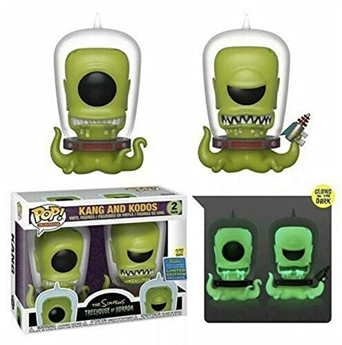 Funko Pop Television : The Simpsons - Kang and Kodos (SDCC 2019 Exclusive) 3.75inch Vinyl Gift for Television Fans Chibi