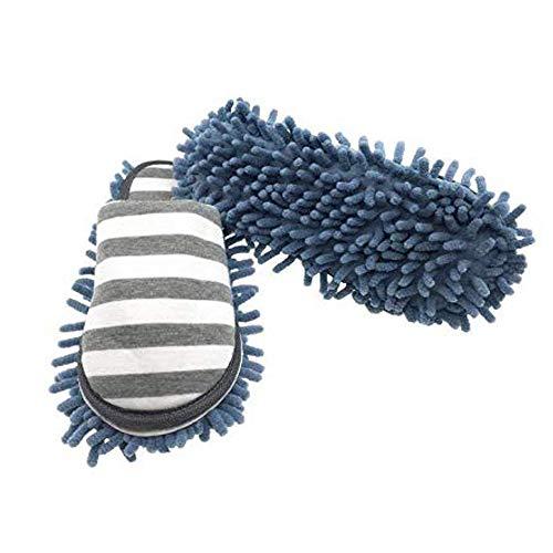 Pantuflas de limpieza con suela de microfibra desmontable,