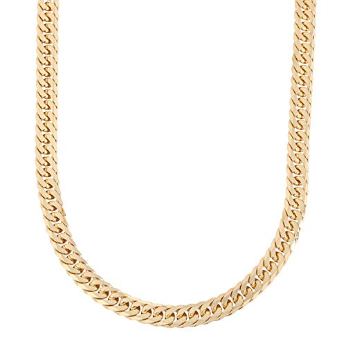 [フェアリーカレット] 18金 喜平ネックレス 6面W 100g 日本製 K18 60cm 中折れ