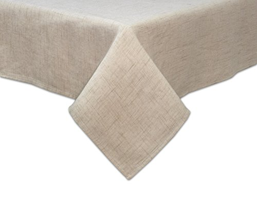 Bardwil Linens Brussels 60'x102' Oblong Tablecloth, Tan