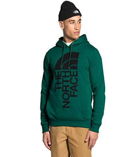 The North Face Men's 2.0 Trivert Pullover Hoodie, Evergreen/TNF Black, L