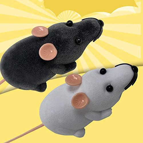 SOOGGI猫おもちゃ電動ネズミ猫じゃらしペット玩具猫遊び犬猫ダイエット運動不足解消ネズミ型ラジコンリモコンネズミおもちゃ