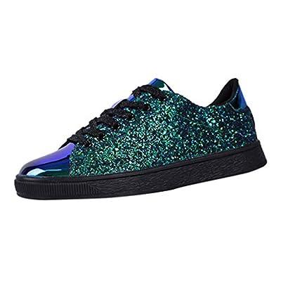 Plate Schuhe Damen Pailletten