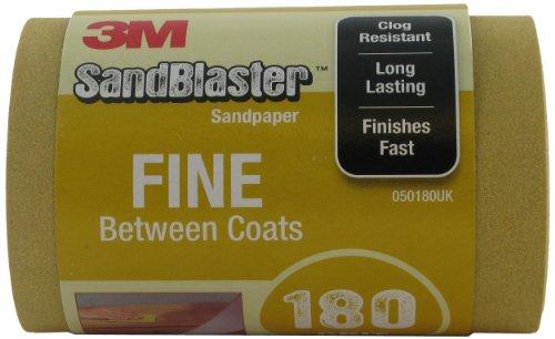3M SandBlaster 025180UK Schleifpapier-Rolle, fein P180115mm x 2,5m zwischen den Schichten Schleifpapier Rolle