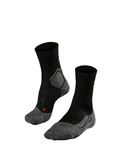 FALKE Herren, RU3 Laufsocke, Wadenlange  Runningsocke ohne Baumwolle extra Dämpfung und maximalen Schutz für lange Strecken und harten Untergrund, schwarz, 46-48