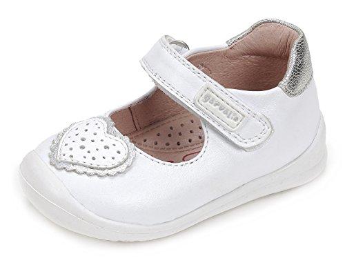 Garvalín Baby Mädchen 172310 Lauflernschuhe Weiß (White/Sauvage B) 23 EU