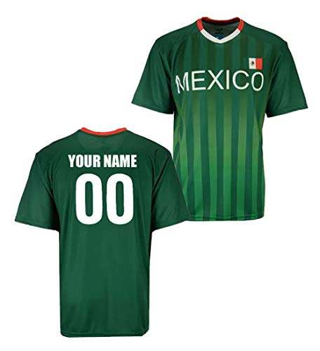 Custom Mexico Jersey - Adult and Youth (Adult Large) Green