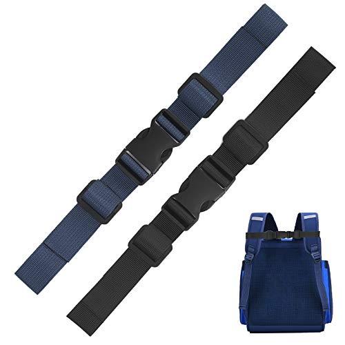 JOOPOM 2 Stück Verstellbarer Brustgurt, Nylon Rucksack Brustgurt Ersatz Schwarze Schulranzen Brustgurt Heavy Strapazierfähiger für Jogging Bergsteigen Wandern Außerhalb