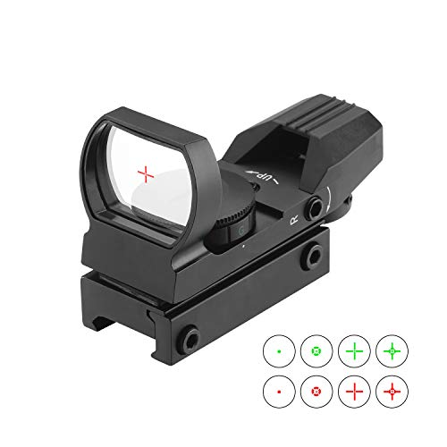 ESSLNB Viseur Point Rouge 5 Paramètres de Luminosité Viseur Airsoft avec 20mm/22mm Picatinny Montage sur Rail et Couverture pour Chasse