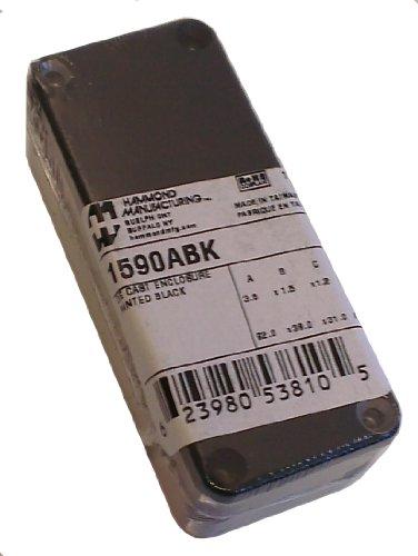 Hammond 1590ABK Black Diecast Aluminum Enclosure - Inches (3.64