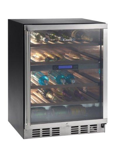 Candy CCVB 120 - refroidisseurs à vin (Autonome, Noir, 4-18 °C, Acier inoxydable, Acier inoxydable, LED)