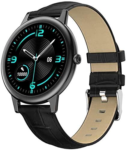 reloj inteligente Mujeres s pulsera inteligente ritmo cardíaco presión arterial sueño monitoreo ejercicio modo mujeres s ciclo fisiológico función de cuero negro