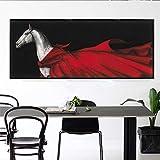 N / A Vintage Horse Painting Living Room Cloak Mural Abstract Poster Printing Pintura Decorativa decoración del hogar Frameless 40X100CM