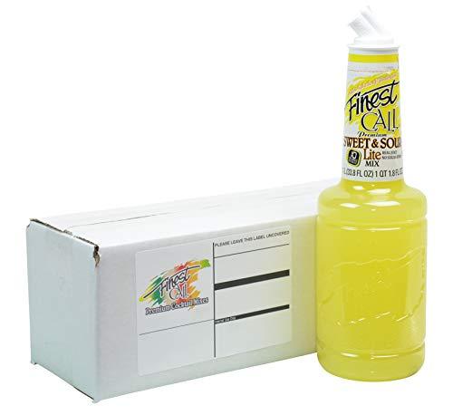 Finest Call Premium Margarita LITE Drink Mix, 1 Liter Bottle (33.8 Fl Oz), Individually Boxed