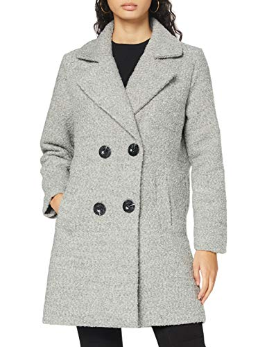 Authentic Style Damen Eight2Nine Wollmischungs-Mantel, Light Grey Melange, M