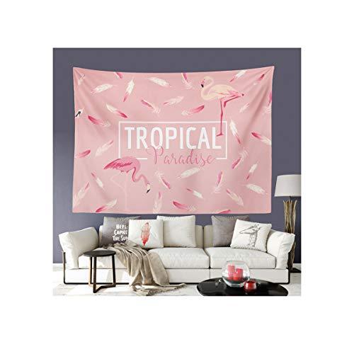 MIGUOR Tapisserie murale en fibre de polyester Motif flamants roses 79 x 150 cm