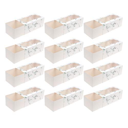 NUOBESTY - 20 cajas para tarta con papel de ventana para panadería,...